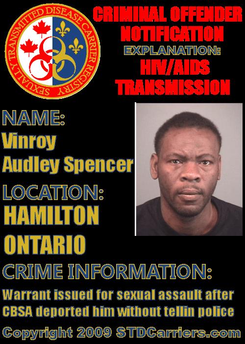 Vinroy Audley Spencer
