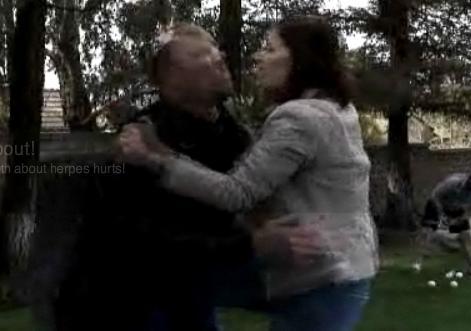 Woman Beats Herpes Boyfriend Video